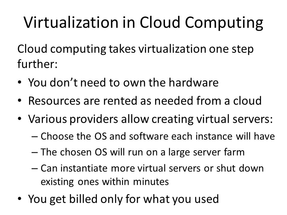 Virtualization Security Challenges The trusted computing base (TCB) of a virtual machine is too large.