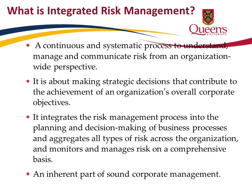 What is Integrated Risk Management.