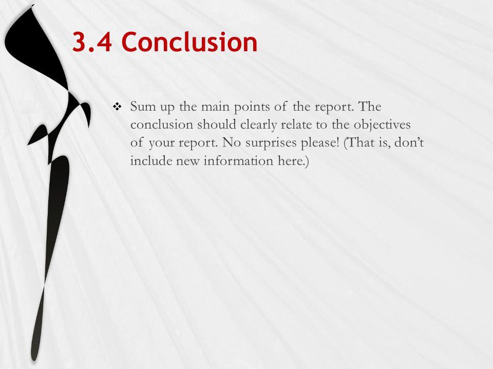 3.4 Conclusion