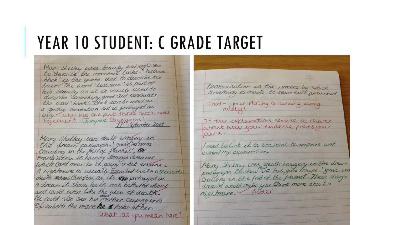 YEAR 10 STUDENT: C GRADE TARGET