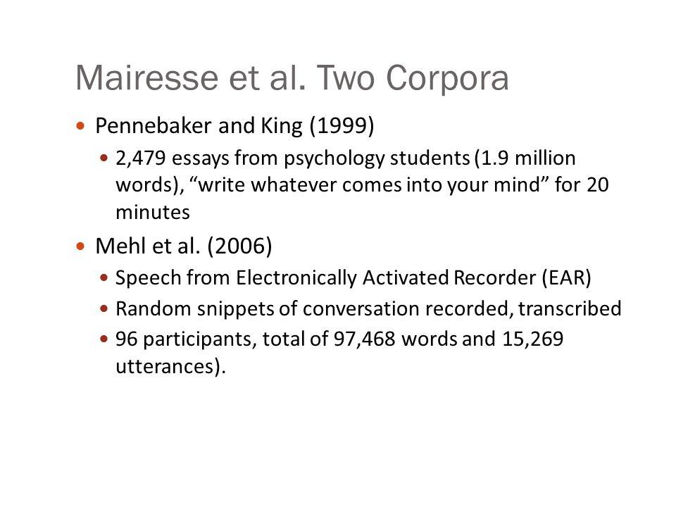Mairesse et al.