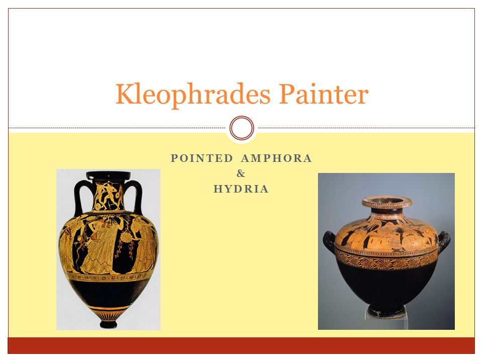 POINTED AMPHORA & HYDRIA Kleophrades Painter
