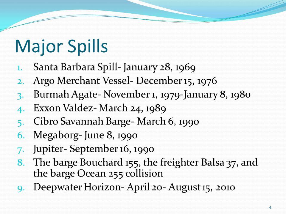 Major Spills 1. Santa Barbara Spill- January 28, 1969 2.