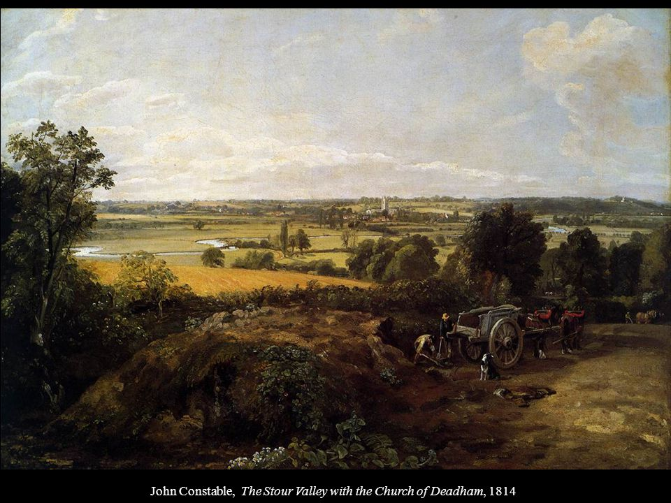 John Constable, The Stour Valley with the Church of Deadham, 1814