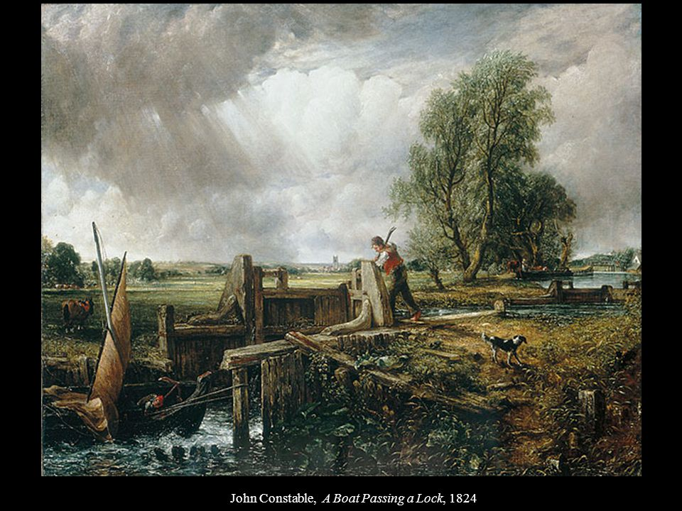 John Constable, A Boat Passing a Lock, 1824
