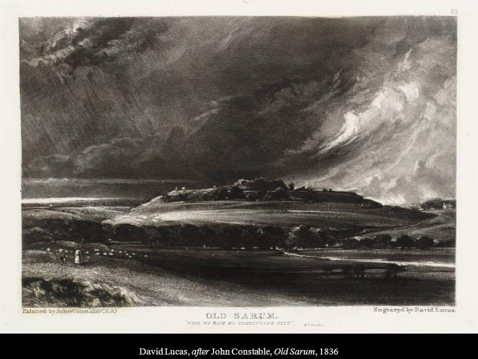 David Lucas, after John Constable, Old Sarum, 1836