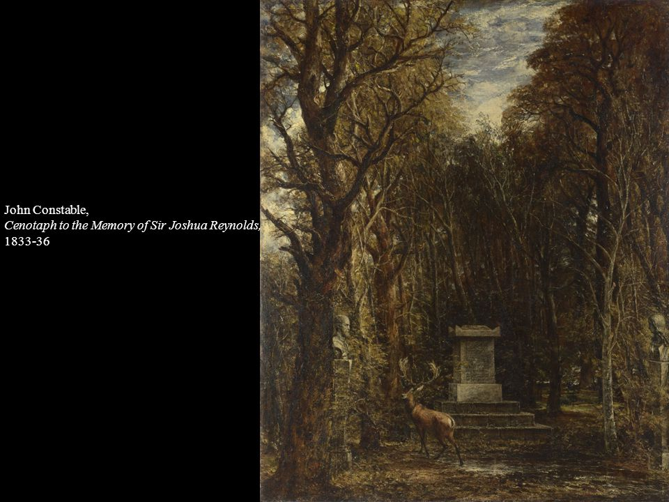 John Constable, Cenotaph to the Memory of Sir Joshua Reynolds, 1833-36