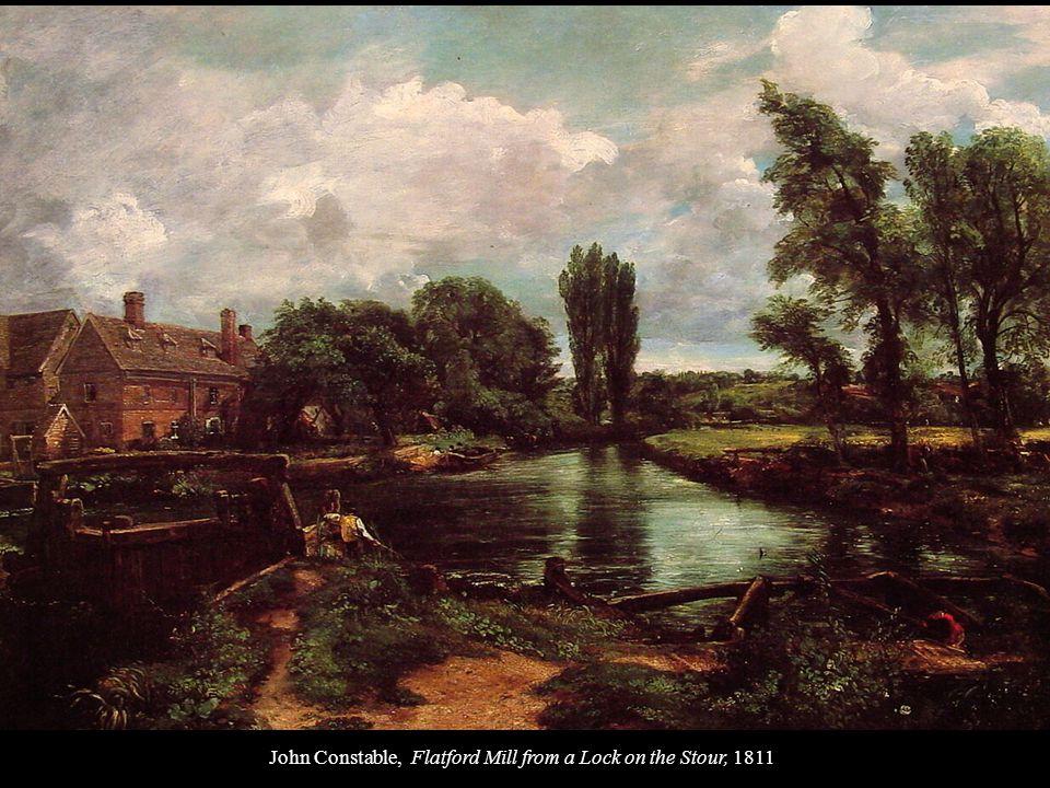 John Constable, Landscape, Boys Fishing, 1813