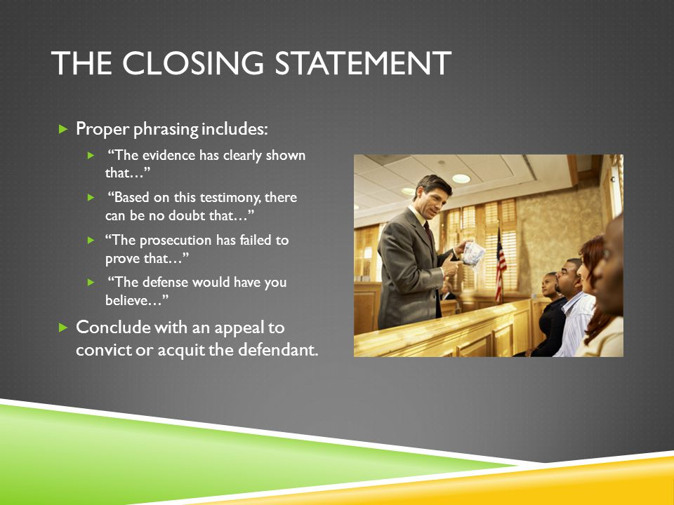 How can I write a closing argument?