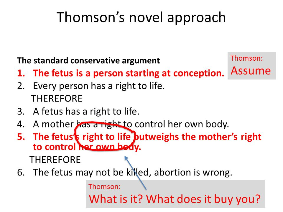 P person with rights Thomson: what follows?