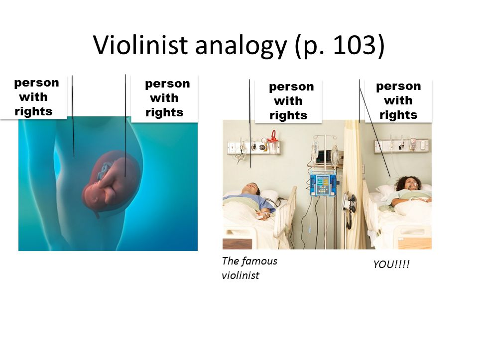 P person with rights Violinist analogy (p. 103) P person with rights person with rights The famous violinist YOU!!!!