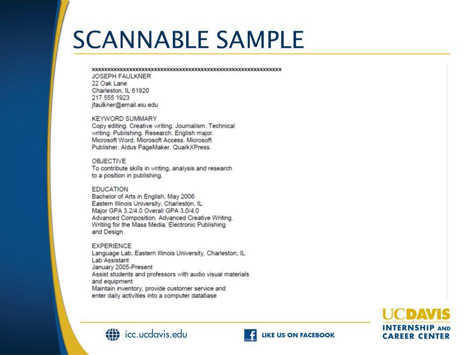 SCANNABLE SAMPLE
