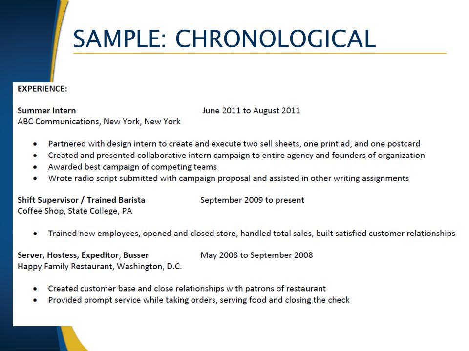 SAMPLE: CHRONOLOGICAL