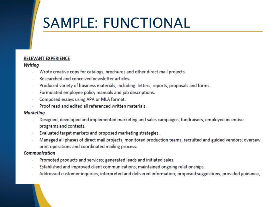 SAMPLE: FUNCTIONAL