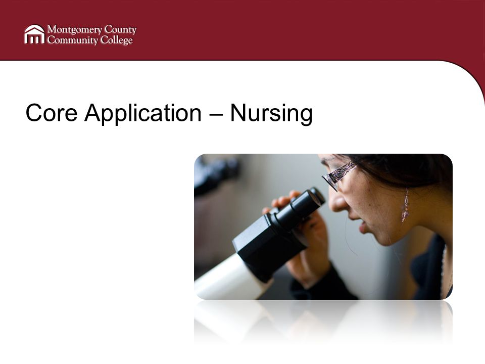 Core Application – Nursing