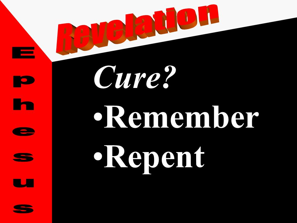 Cure? RepentRepent