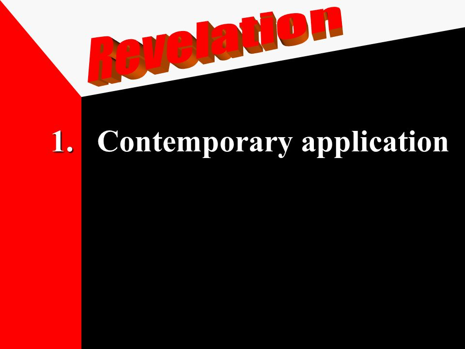 1.Contemporary application