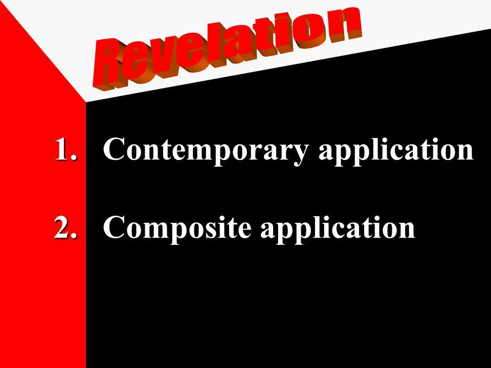 1.Contemporary application 2.Composite application 3.Chronological application