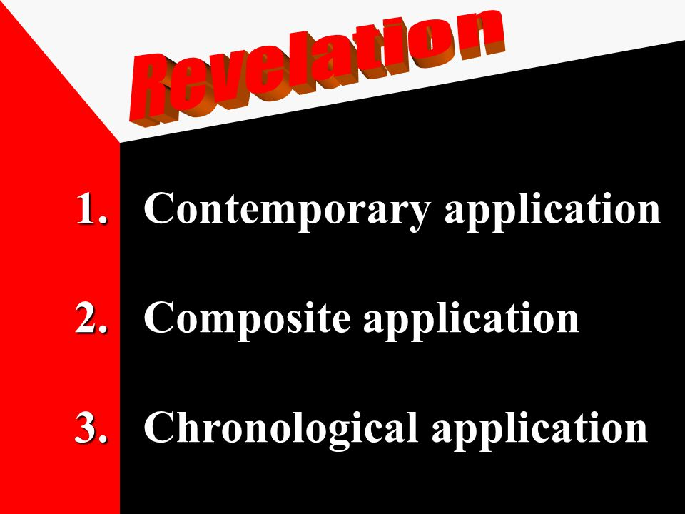1.Contemporary application 2.Composite application 3.Chronological application