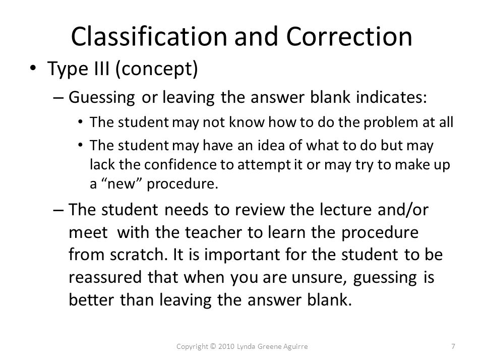 Error Analysis Exercise Each of the following problems include errors made by a student.