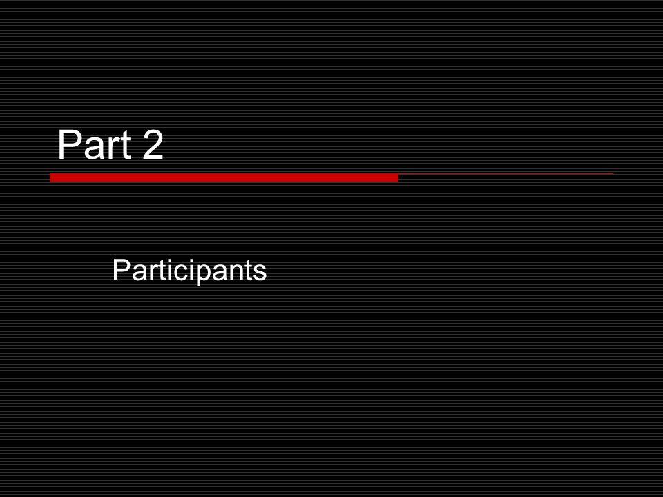 Part 2 Participants