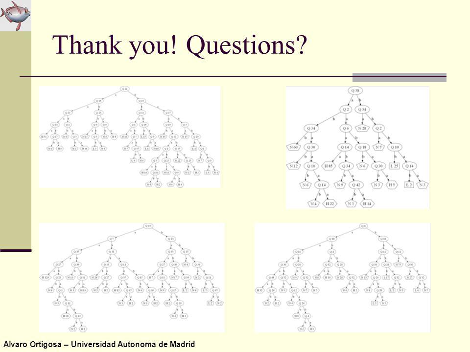 Alvaro Ortigosa – Universidad Autonoma de Madrid Thank you! Questions