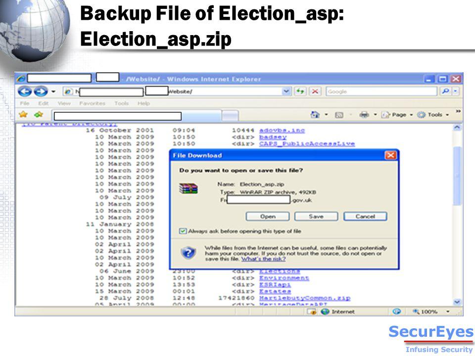 Backup File of Election_asp: Election_asp.zip