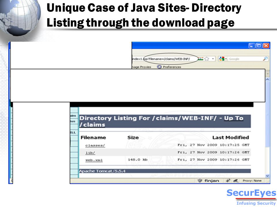 Unique Case of Java Sites- Directory Listing through the download page