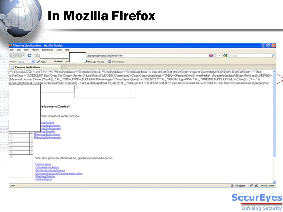 In Mozilla Firefox