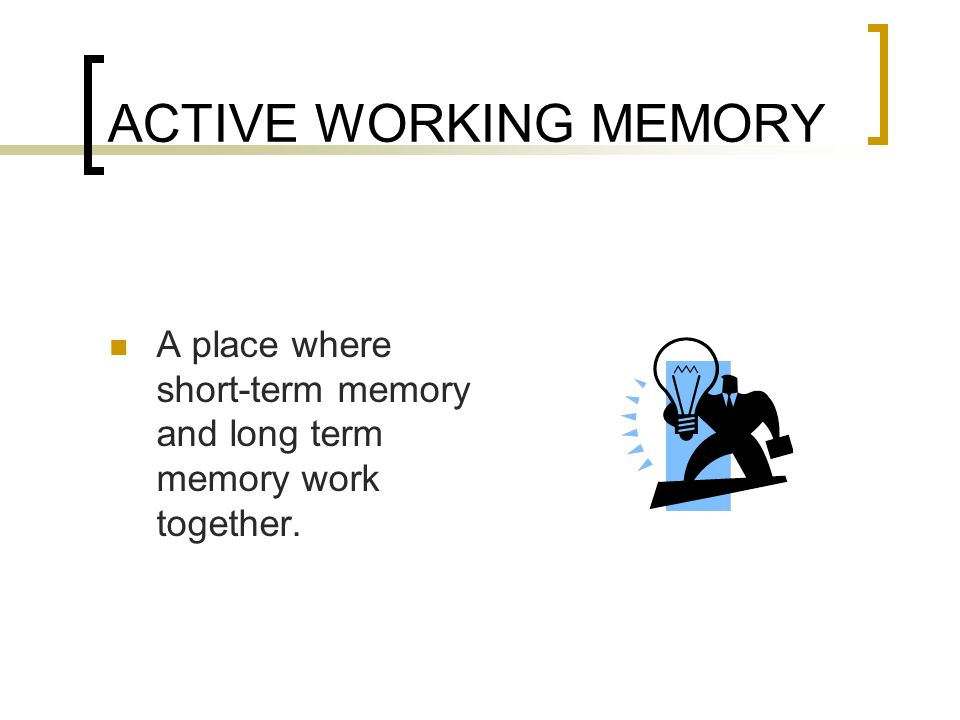 A place where short-term memory and long term memory work together.