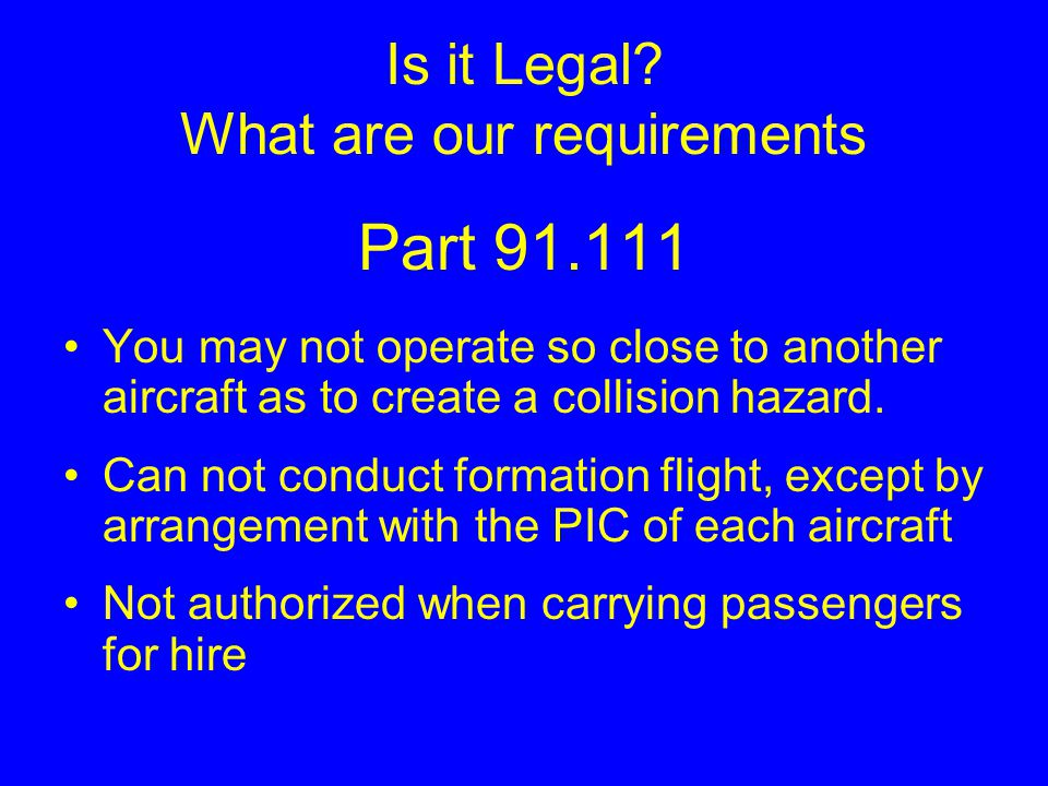 Procedures Arrival Formation landings will not be conducted Closely sequenced and planned landings will aid in our arrival Be prepared to transition to trail formation at ≈2 miles from KOSH with a radio call from element lead.