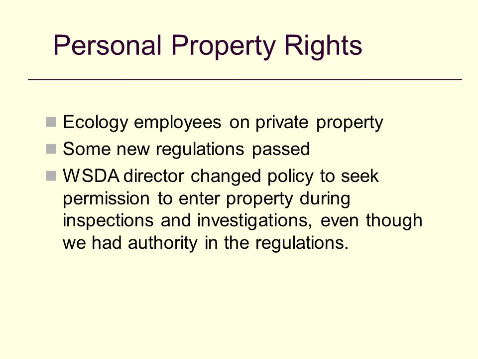 Concluding Points Make sure you have the authority spelled out in your regulations Get paperwork prepared ( application, declaration, warrant, and return of warrant) Always have law enforcement go with you Have at least 2 employees go to serve the warrant Tools Staple Gun Wooden Stakes Bolt Cutters