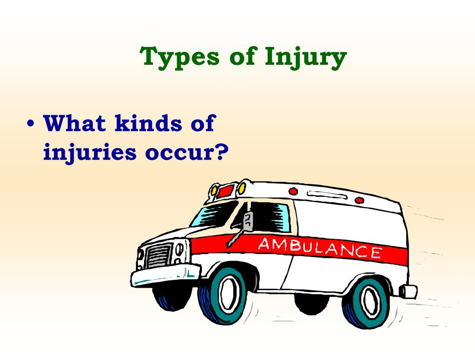 Types of Injury What kinds of injuries occur?