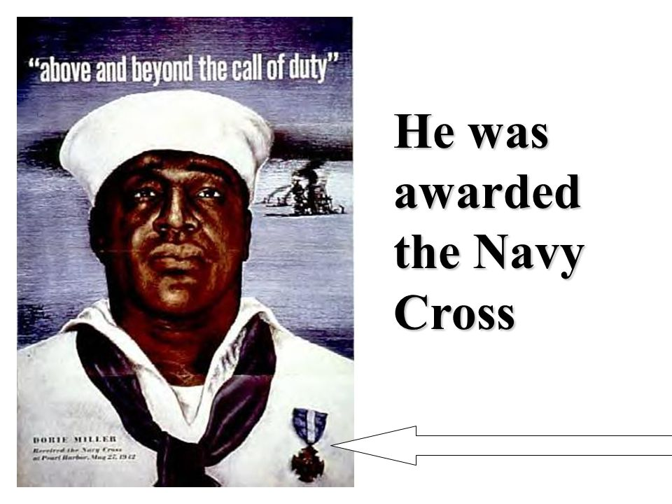 He was awarded the Navy Cross