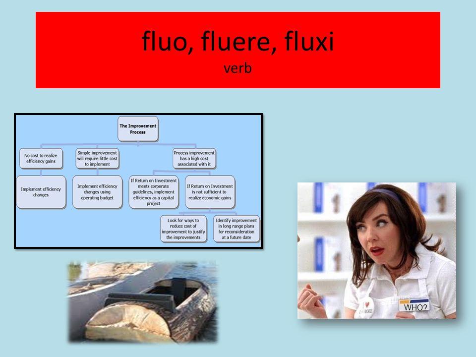 fluo, fluere, fluxi verb