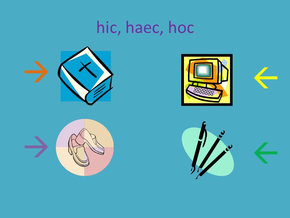 hic, haec, hoc    
