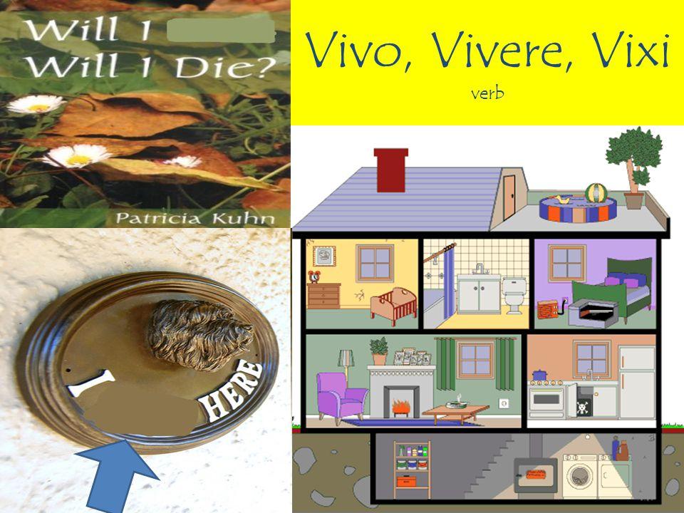 Vivo, Vivere, Vixi verb