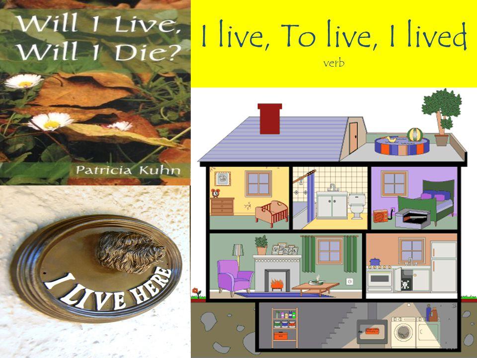 I live, To live, I lived verb