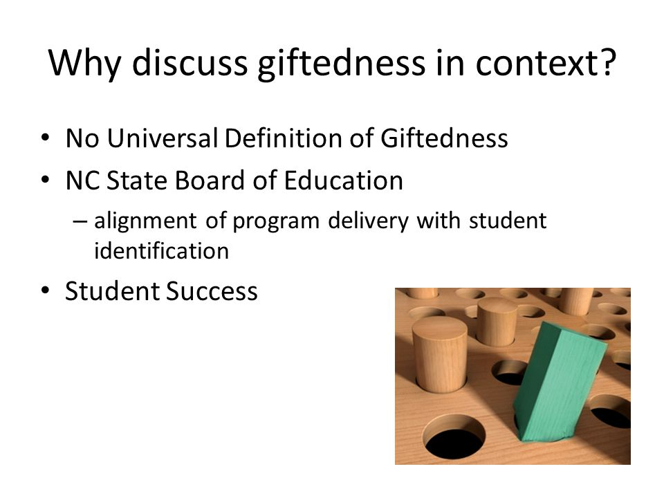 Why discuss giftedness in context.