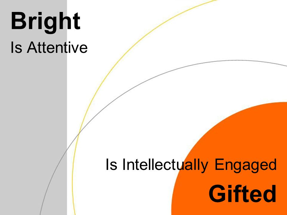 Bright Is Attentive Gifted Is Intellectually Engaged