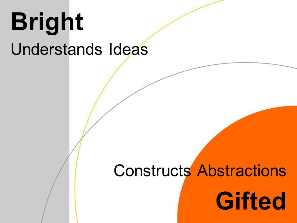Bright Understands Ideas Gifted Constructs Abstractions