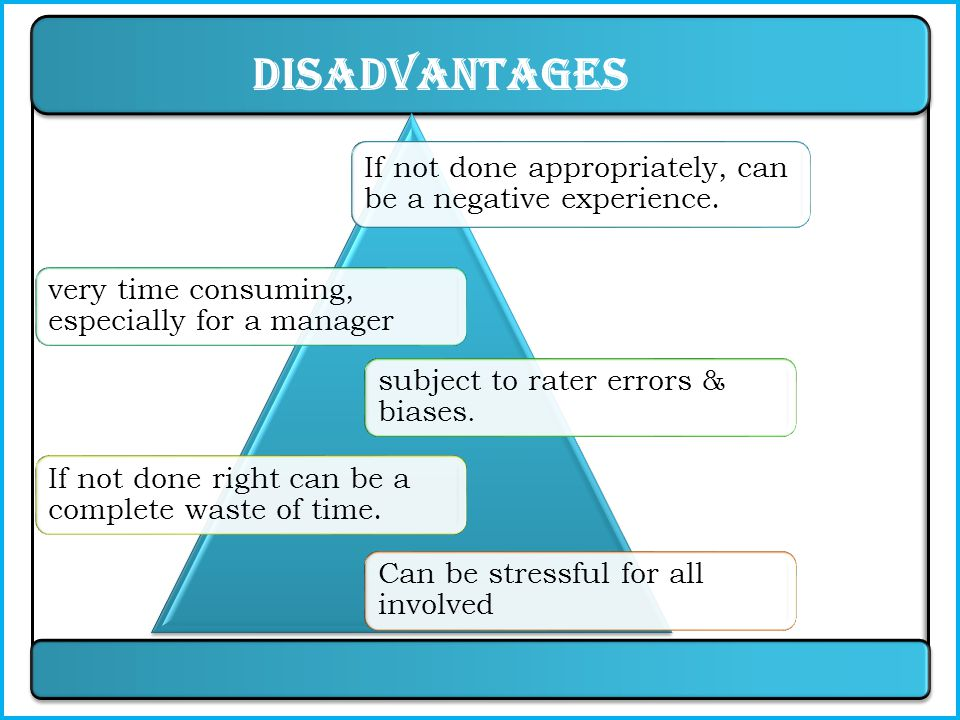 Advantages provide a record of performance over a period of time.