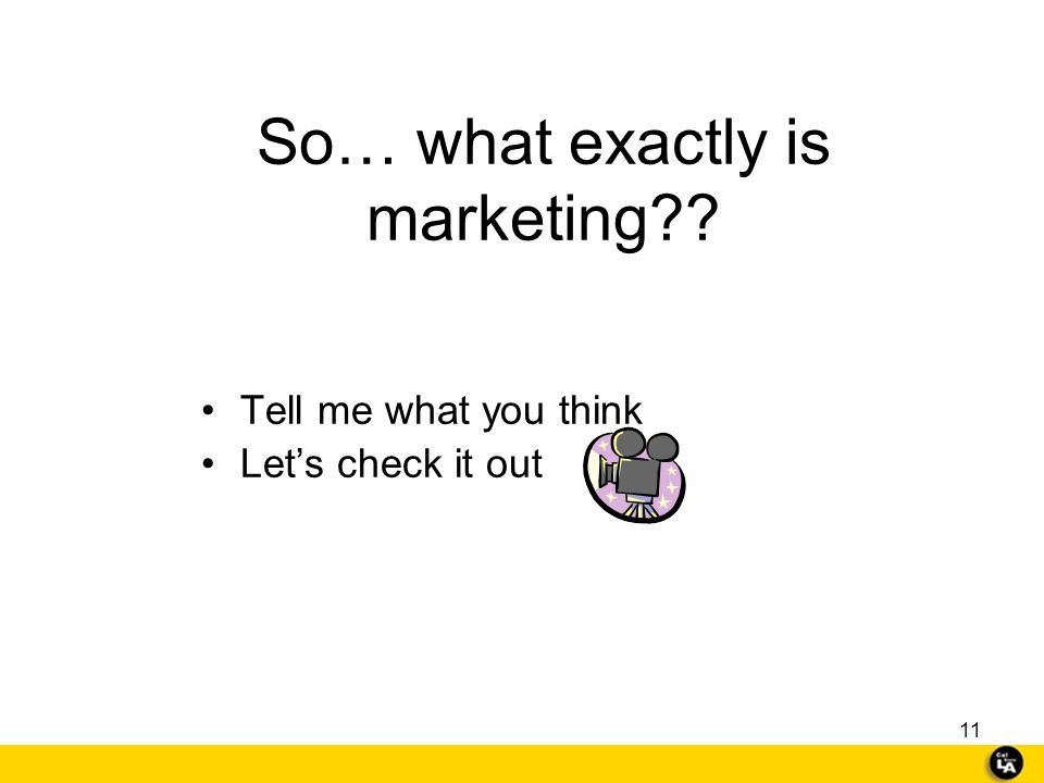 10 Marketing: It can be FUN