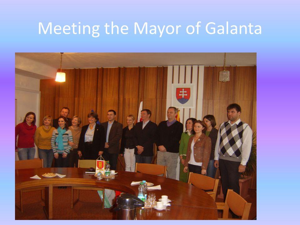 Meeting the Mayor of Galanta