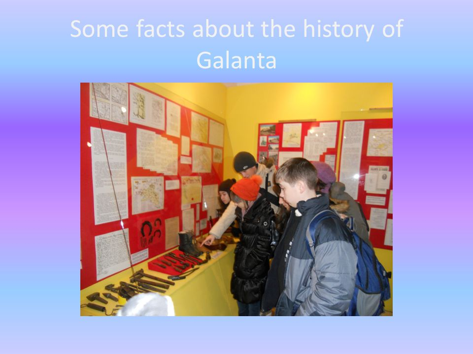 Some facts about the history of Galanta