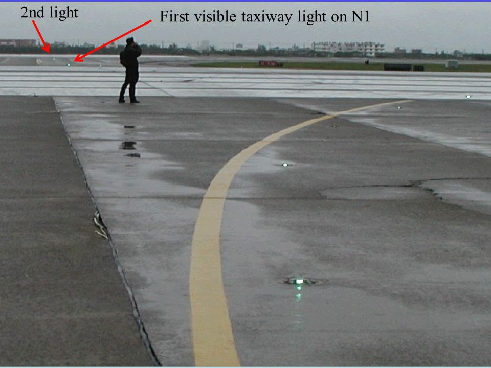 First visible taxiway light on N1 2nd light