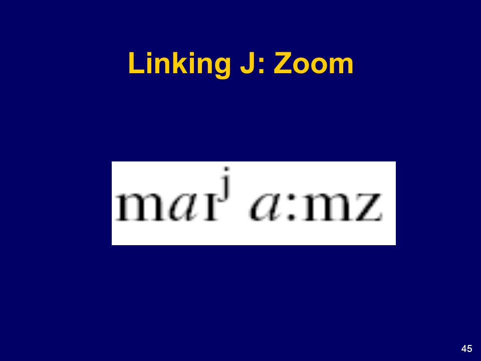 45 Linking J: Zoom