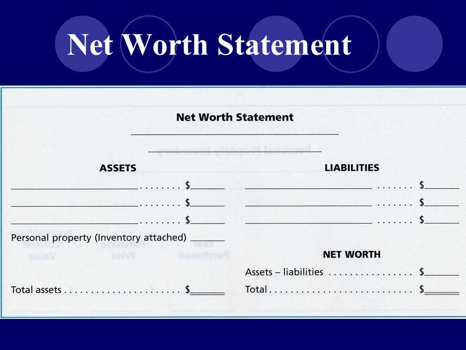 Net Worth Statement