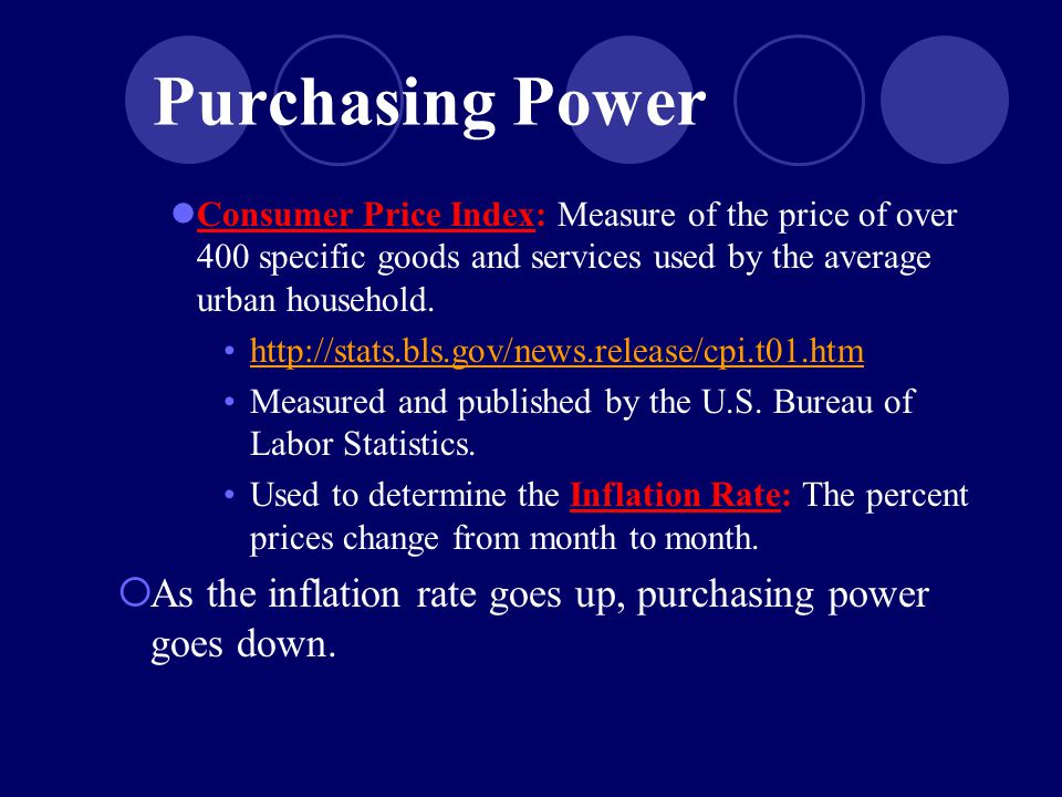 Purchasing Power Consumer Price Index: Measure of the price of over 400 specific goods and services used by the average urban household.