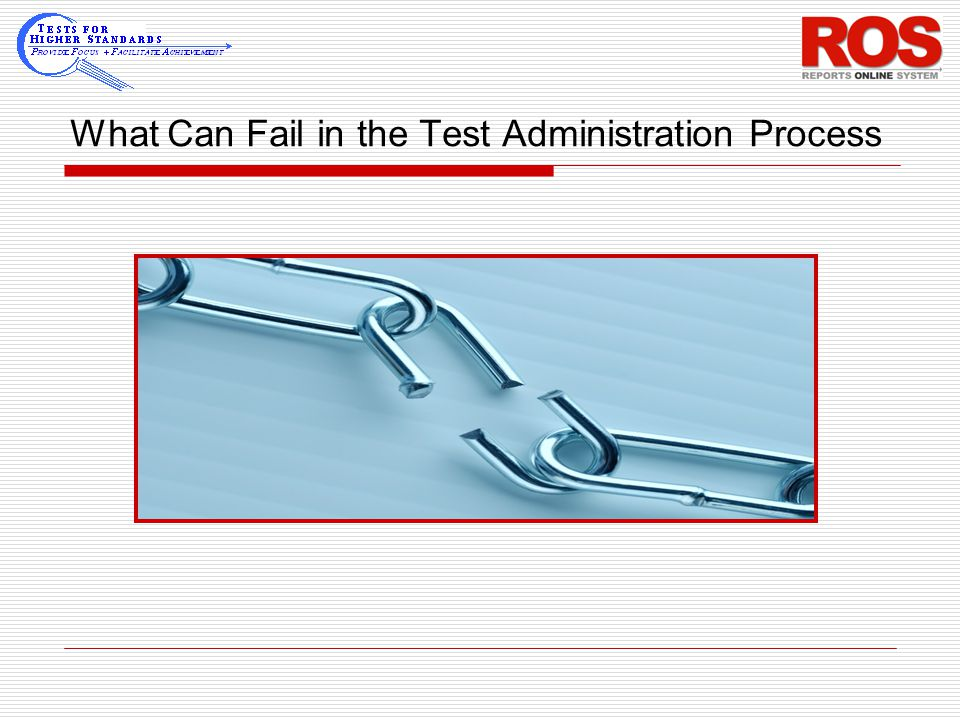 What Can Fail in the Test Administration Process